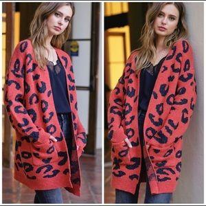 Leopard Soft Knit Cardigan